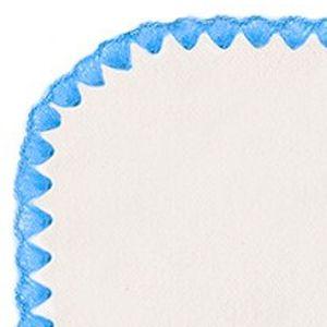 Фланелевая пеленка Organic Natural w/Blue