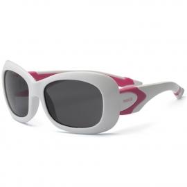Детские солнцезащитные очки Real Kids 7+ Breeze для девочек с поляризацией белый/розовый