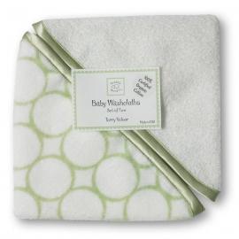 Детские мочалки SwaddleDesigns Washcloth set - Organic IV w/KW Mod C