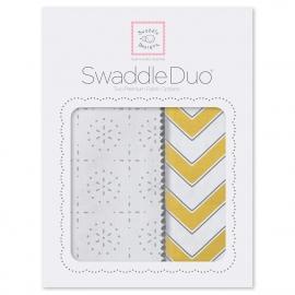 Набор пеленок SwaddleDesigns Swaddle Duo Yellow Chevrons