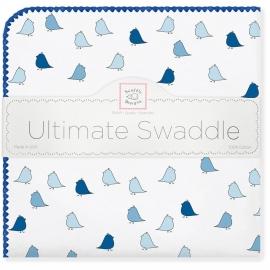Фланелевая пеленка для новорожденного SwaddleDesigns TB Lt. Chickies