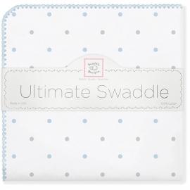 Фланелевая пеленка для новорожденного SwaddleDesigns BL/Sterling Lt Dot