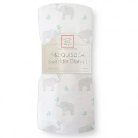 Пеленка детская тонкая SwaddleDesigns Маркизет SC Elephant/Chickies