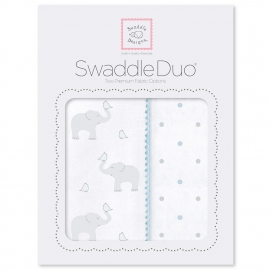 Набор пеленок SwaddleDesigns Swaddle Duo PB Elephant/Chickies