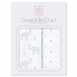 Набор пеленок SwaddleDesigns Swaddle Duo SC Elephant/Chickies