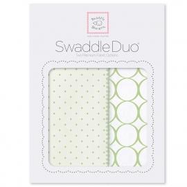 Набор пеленок SwaddleDesigns Swaddle Duo KW Dot/Mod Circle