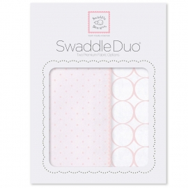 Набор пеленок SwaddleDesigns Swaddle Duo PP Dot/Mod Circle