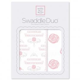 Набор пеленок SwaddleDesigns Swaddle Duo Rose Royal